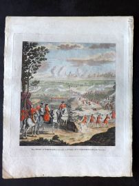 Field of Mars 1801 HC Print Siege of Barcelona taken by the Earl of Peterborough